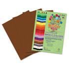 Premium Sulphite Construction Paper, 76 lbs., 9 x 12, Dark Brown, 50/Pack RLP72401