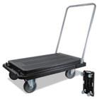 "Heavy-Duty Platform Cart, 300lb Capacity, 33""d x 21""w x 37""h, Black DEFCRT530004"