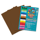 Heavyweight Construction Paper, 58 lbs., 9 x 12, Dark Brown, 50 Sheets/Pack RLP62101