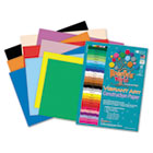 Heavyweight Construction Paper, 58 lbs., 9 x 12, Assorted, 50 Sheets/Pack RLP60001