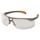 Protege Safety Glasses, Ultra-dura Anti-Scratch, Sandstone Frame, Clear Lens UVXS4210