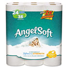 Angel Soft Big Roll Toilet Paper, 2 Ply, 4x4 in, 250 sht/rl, 24 rl/pk GEP77239