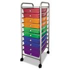 Portable Drawer Organizer, 15-1/2w x 13d x 37-5/8h, Assorted/Chrome AVT34004