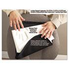 Deluxe Lumbar Support Cushion w/Memory Foam, 7-1/2w x 2-1/2d x 12-1/2h, Black MAS92061