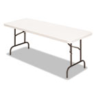 Banquet Folding Table, Rectangular, Radius Edge, 60 x 30 x 29, Platinum/Charcoal ALE65602