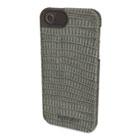 Vesto Textured Leather Case, for iPhone 5, Gray Lizard KMW39624