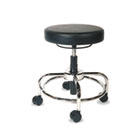 HL Series Height-Adjustable Utility Stool, Black AAPCS614