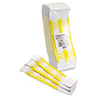 Self-Adhesive Currency Straps, Yellow, $1,000 in $10 Bills, 1000 Bands/Box MMF216070G12