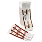 Self-Adhesive Currency Straps, Brown, $5,000 in $50 Bills, 1000 Bands/Box MMF216070I09