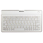 Bluetooth Ultra-Slim Wireless Mobile Keyboard, White VER97754