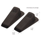 Big Foot Doorstop, No-Slip Rubber Wedge, 2-1/4w x 4-3/4d x 1-1/4h, Brown, 2/Pack MAS00971