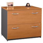 Series C Two-Drawer Lateral File (Assembled), Natural Cherry/Graphite Gray BSHWC72454ASU