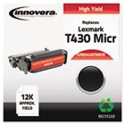 83430TMICR Remanufactured, 12A8325(M) (T430) MICR Toner, 12000 Yield, Black IVR83430TMICR