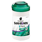 """San-Hands II Sanitizing Wipes, 5""""w x 6""""l, White, 150/Canister NICP43572EA"""