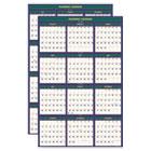 4 Seasons Reversible Business/Academic Wall Calendar, 24 x 37, 2014-2015 HOD390