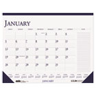 Two-Color Monthly Desk Pad Calendar w/Large Notes Section, 18-1/2 x 13, 2016 HOD1646