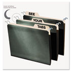 Hanging File Folders with Innovative Top Rail, Letter, Green, 20/Pack IDEFT07033