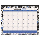 Fashion Monthly Desk Pad Calendar, 17-3/4 x 10-7/8, 2016 REDC195112