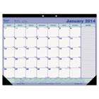 Monthly Academic Desk Pad, 21-1/4 x 16, White/Black, 2015 REDCA181731