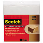 Cover-Up Sheet, 12 x 12, White, 6/Pk MMMRUCUS6WH