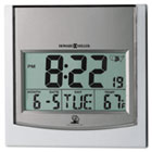 "TechTime II Radio-Controlled LCD Wall/Table Alarm Clock, 6""W x 1""D x 6""H MIL625235"