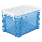 Super Stacker Storage Boxes, Hold 500 4 x 6 Cards, Plastic, Blue AVT40306