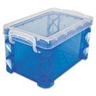 Super Stacker Storage Boxes, Hold 400 3 x 5 Cards, Plastic, Blue AVT40308