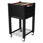 InstaCart Sidekick File Cart, 15w x 16-1/4d x 27-3/4h, Black VRTVF53002