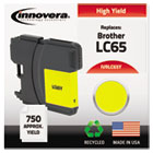 Remanufactured LC65Y  Ink, 750 Page-Yield, Yellow IVRLC65Y