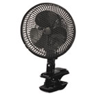 "9"" Two-Speed Personal Clip-on Fan, Plastic, Black HLSHACP10BU"