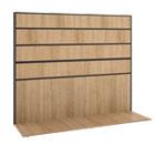 Manage Series Work Wall, Laminate, 60w x 17d x 50h, Wheat BSXMGWKWLWHA1