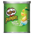 Potato Chips, Sour Cream & Onion, 1.41oz Can, 36/Carton KEB84715
