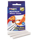 Hygieia Dustless Board Chalk, 3 1/4 x 3/8. White, 12/Box DIX31144