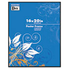 Coloredge Poster Frame, Clear Plastic Window, 16 x 20, Black DAXN16016BT