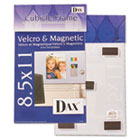 Velcro Magnetic Cubicle Photo Document Frame, Acrylic, 8-1/2 x 11, Clear DAXN140285M