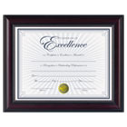 "Prestige Document Frame, Rosewood/Black, Gold Accents, Certificate, 8 1/2 x 11"" DAXN3028N2T"