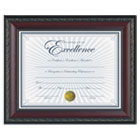 "World Class Document Frame w/Certificate, Walnut, 8 1/2 x 11"" DAXN3245N2T"