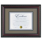 "World Class Document Frame w/Certificate, Walnut, 11 x 14"" DAXN3245S2T"