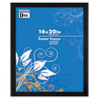 Black Solid Wood Poster Frames w/Plastic Window, Wide Profile, 16 x 20 DAX2863V2X
