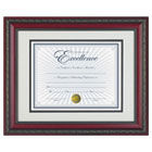 "World Class Document Frame w/Certificate, Rosewood, 11 x 14"" DAXN3245S3T"