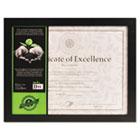 Solid Wood Photo/Document Frame, Easel Back, 8-1/2 x 11, Black DAX1826N3T