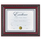 "World Class Document Frame w/Certificate, Rosewood, 8 1/2 x 11"" DAXN3245N3T"