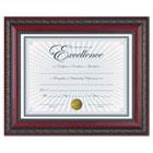 "World Class Document Frame w/Certificate, Rosewood, 8 1/2 x 11"" DAXN3245N3T"