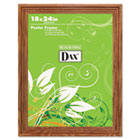 Plastic Poster Frame, Traditional Clear Plastic Window, 18 x 24, Medium Oak DAX2856W1X