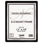 EZ Mount II Document Frame, Plastic, 11 x 14, Black/Silver NUD13980