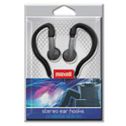 EH-130 Stereo Ear Hooks, Silver/Black MAX190565