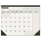 Blueline DuraGlobe Monthly Desk Pad Calendar, 22 x 17, 2015 REDC177227