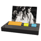 """Pop-up Note/Flag Dispenser Plus Photo Frame with 3 x 3 Pad, 50 1"""" Flags, Black MMMPH100BK"""