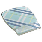 Fun Design Clear Gel Mouse Pad Wrist Rest, 6 4/5 x 8 3/5 x 3/4, Plaid Design MMMMW308PL