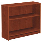 1870 Series Bookcase, Two-Shelf, 36w x 11-1/2d x 29-7/8h, Henna Cherry HON1871J